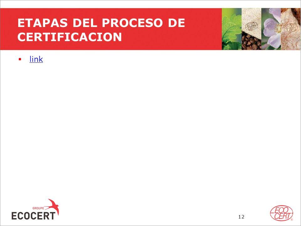 ETAPAS DEL PROCESO DE CERTIFICACION link 12