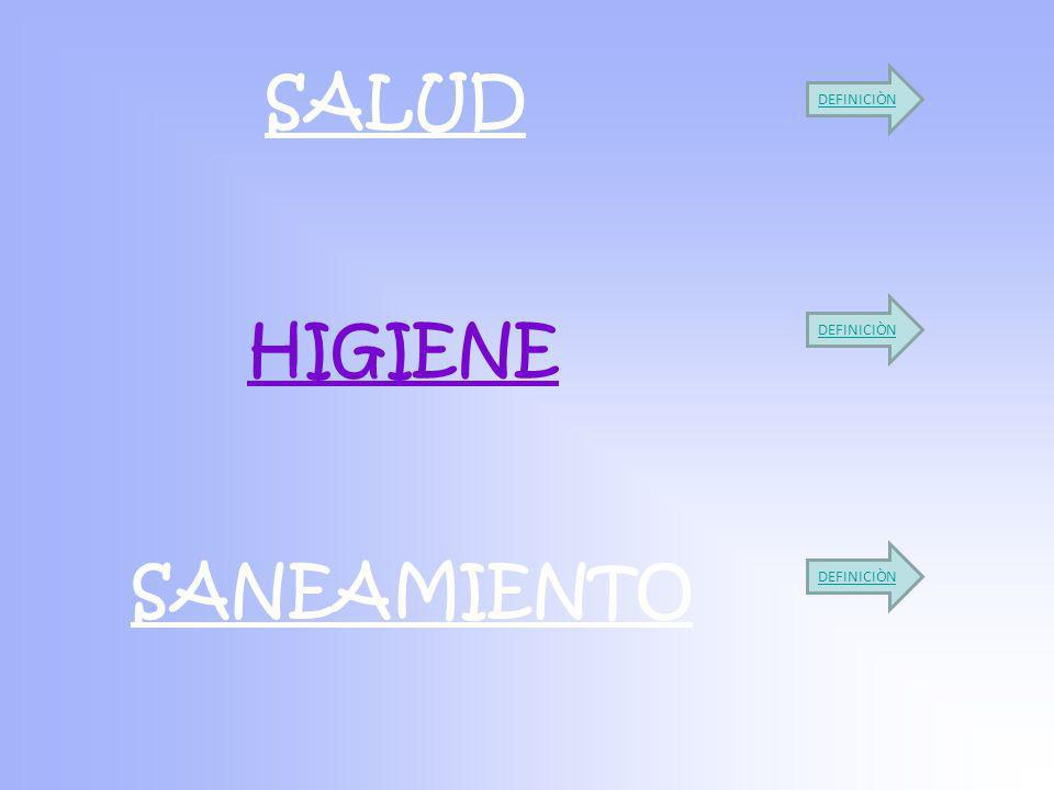 SALUD SANEAMIENTO HIGIENE DEFINICIÒN