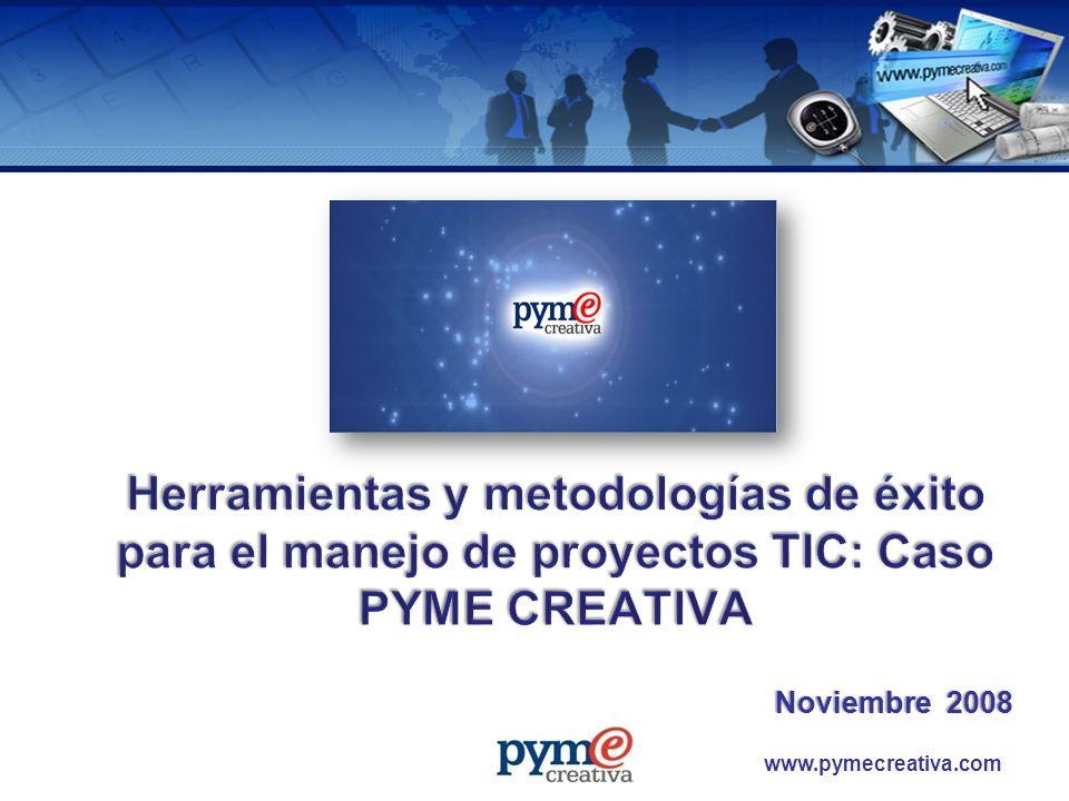 www.pymecreativa.com Descripción proyecto PYME CREATIVA Etapas de desarrollo del proyecto Metodologías y herramientas para el desarrollo del proyecto Factores Críticos de Éxito Lecciones aprendidas