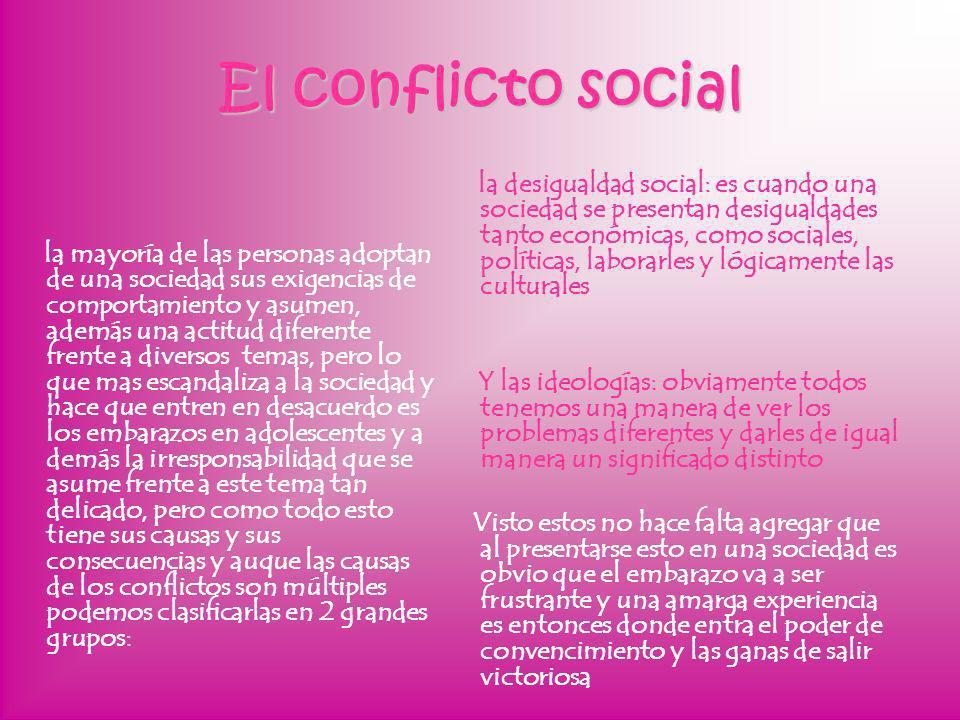 El conflicto social la mayoría de las personas adoptan de una sociedad sus exigencias de comportamiento y asumen, además una actitud diferente frente