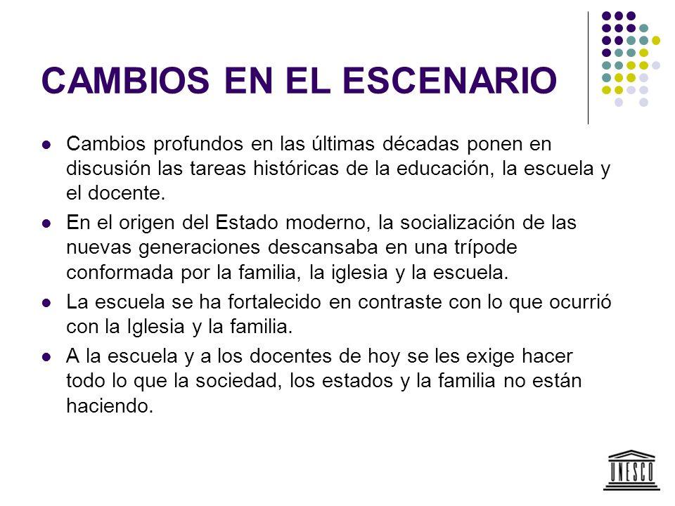 APORTES DE LA OREALC/UNESCO PROGRAMA REGIONAL DE POLÍTICAS PARA LA PROFESIÓN DOCENTE.