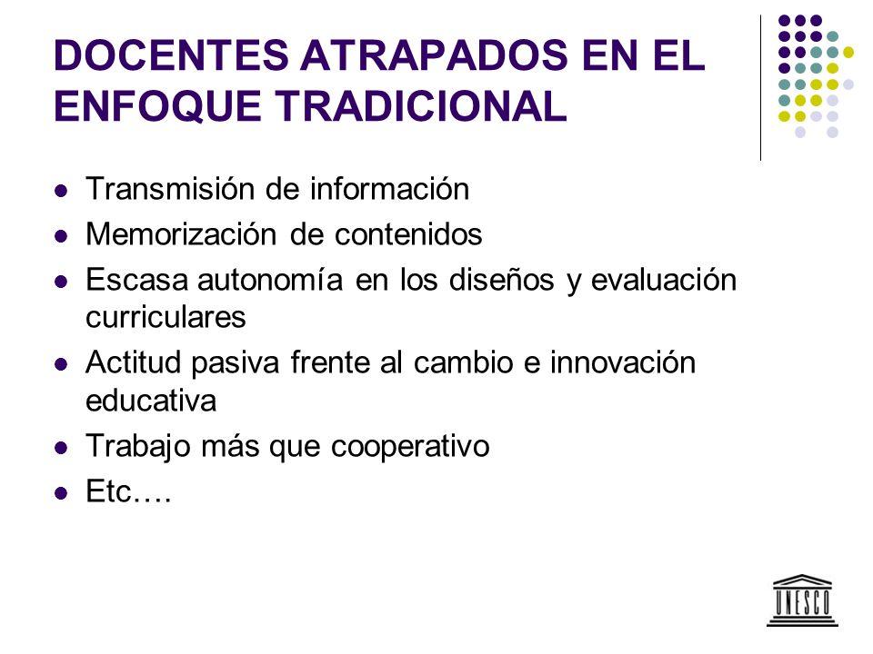 LOS CAMBIOS SIGUEN ESPERANDO El colapso del rol tradicional no ha significado cambios en las políticas y estrategias para la formación y el desarrollo de los docentes.