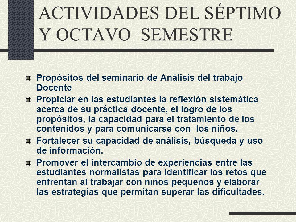 Propósitos del seminario de Análisis del trabajo Docente Propiciar en las estudiantes la reflexión sistemática acerca de su práctica docente, el logro
