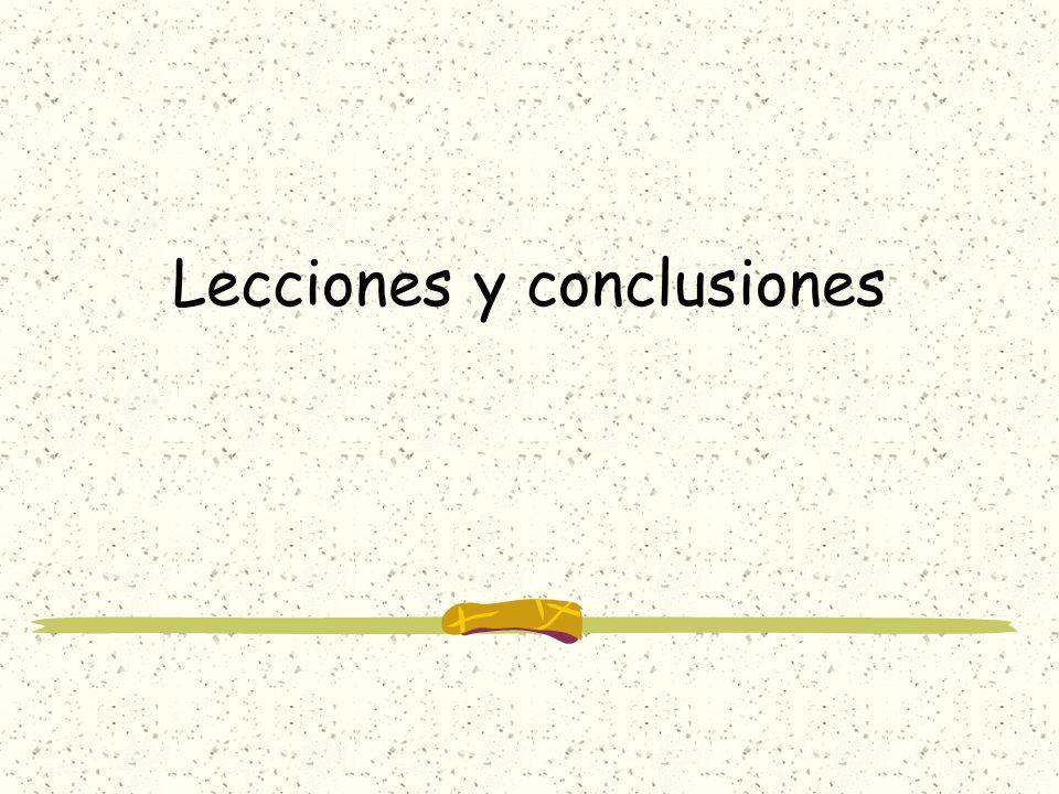 Lecciones y conclusiones
