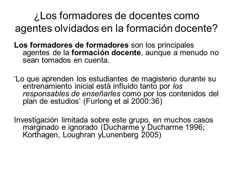 ¿Los formadores de docentes como agentes olvidados en la formación docente.