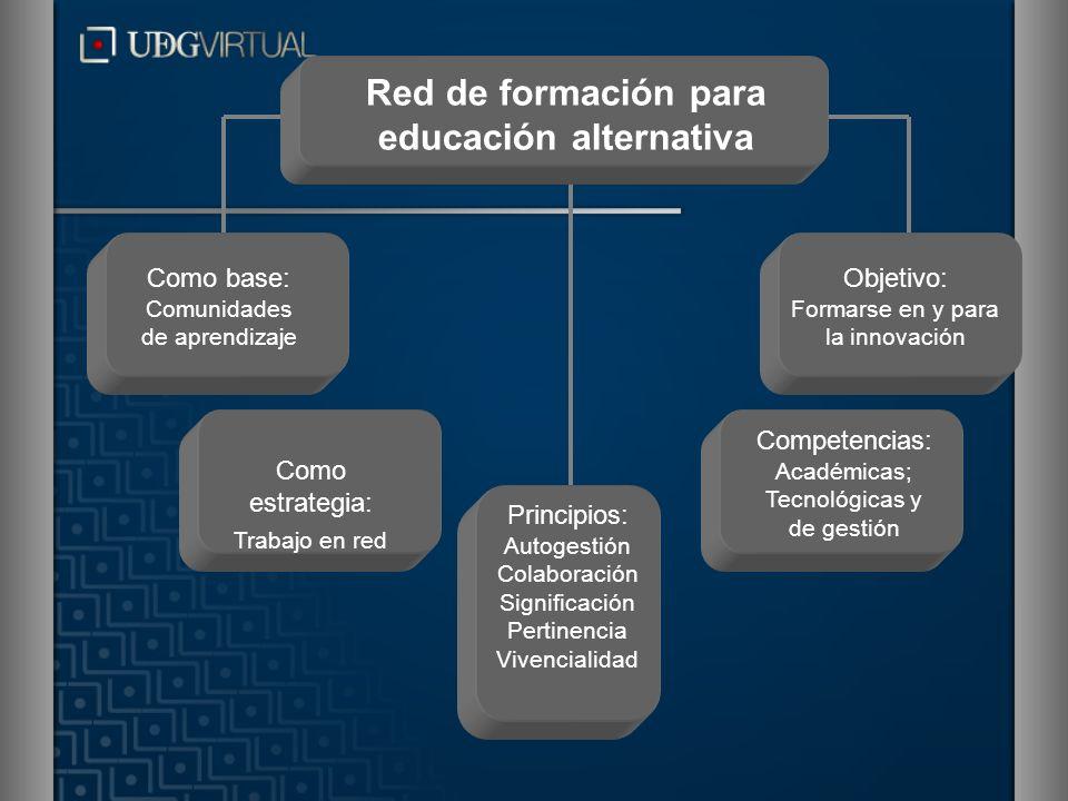 Como base: Comunidades de aprendizaje Red de formación para educación alternativa Principios: Autogestión Colaboración Significación Pertinencia Viven