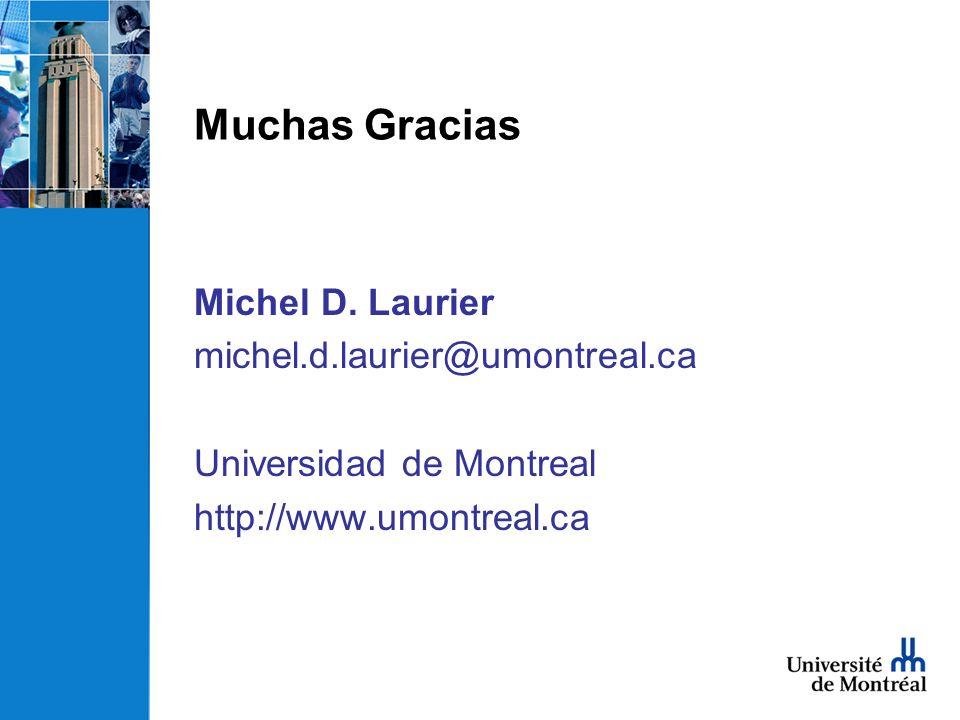 Muchas Gracias Michel D.