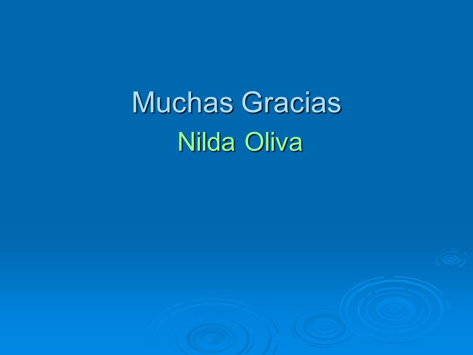 Muchas Gracias Nilda Oliva Nilda Oliva