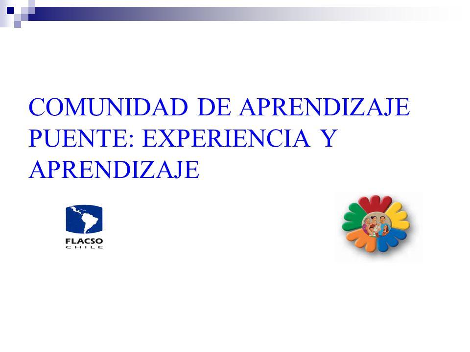 FORTALECIMIENTO DE UNIDADES DE INTERVENCIÓN FAMILIAR PARA SU AUTOCUIDADO Y EL APOYO PSICOSOCIAL DE LAS FAMILIAS La Comunidad de Aprendizaje Puente canaliza gran parte de las actividades de formación y capacitación de los operadores del Programa (Apoyos Familiares, JUIFs y Equipos regionales), destinadas a: aumentar la efectividad de las prácticas profesionales de cada uno de ellos.