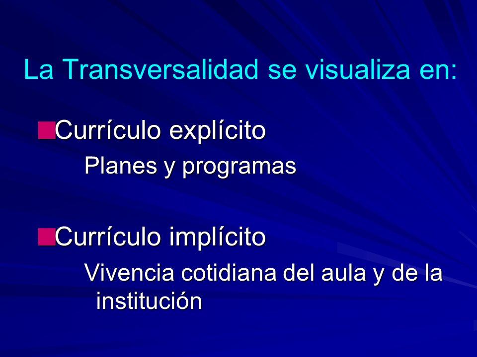 Competencias de la transversalidad Son aquellas que atraviesan e impregnan horizontal y verticalmente, todas las asignaturas del currículo y requieren