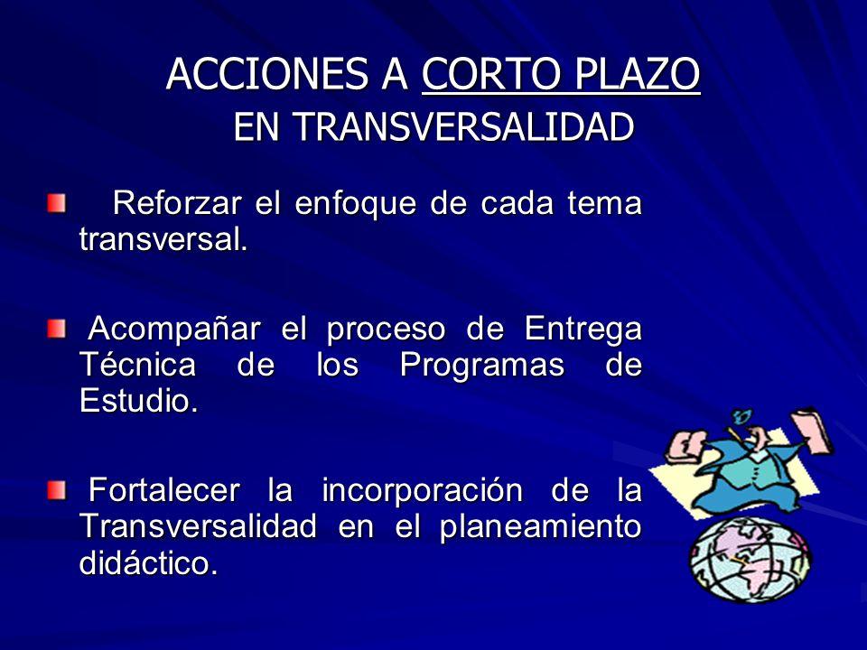 2004: Asesoramiento y sensibilización sobre el enfoque de la transversalidad en el sistema educativo costarricense con Asesores Nacionales, Directores