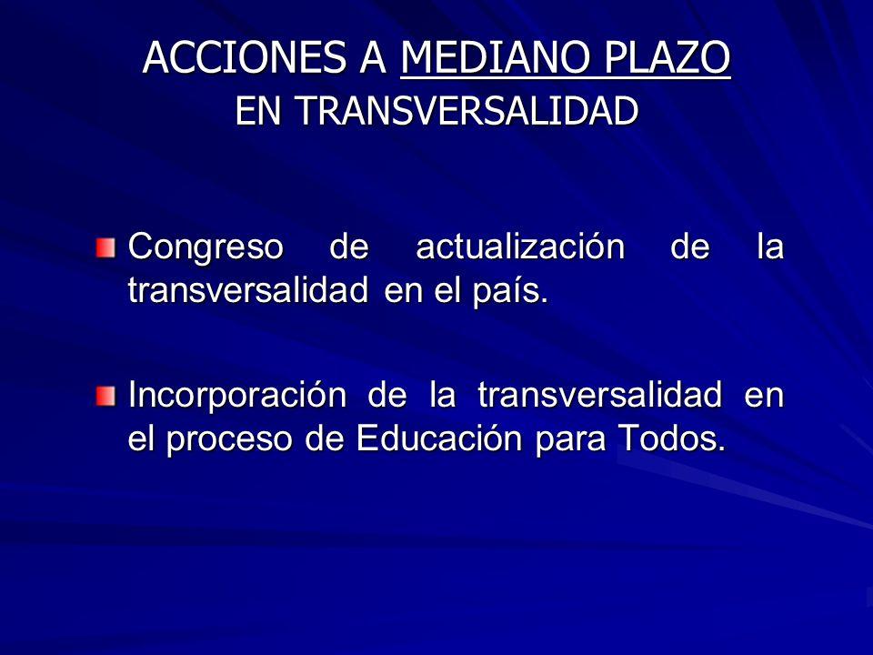 * Elaboración del documento Transversalidad y planeamiento didáctico. * Elaboración del documento Transversalidad y planeamiento didáctico. * Asesoram