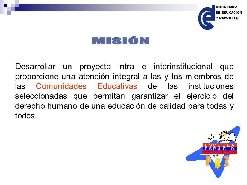 Desarrollar un proyecto intra e interinstitucional que proporcione una atención integral a las y los miembros de las Comunidades Educativas de las ins