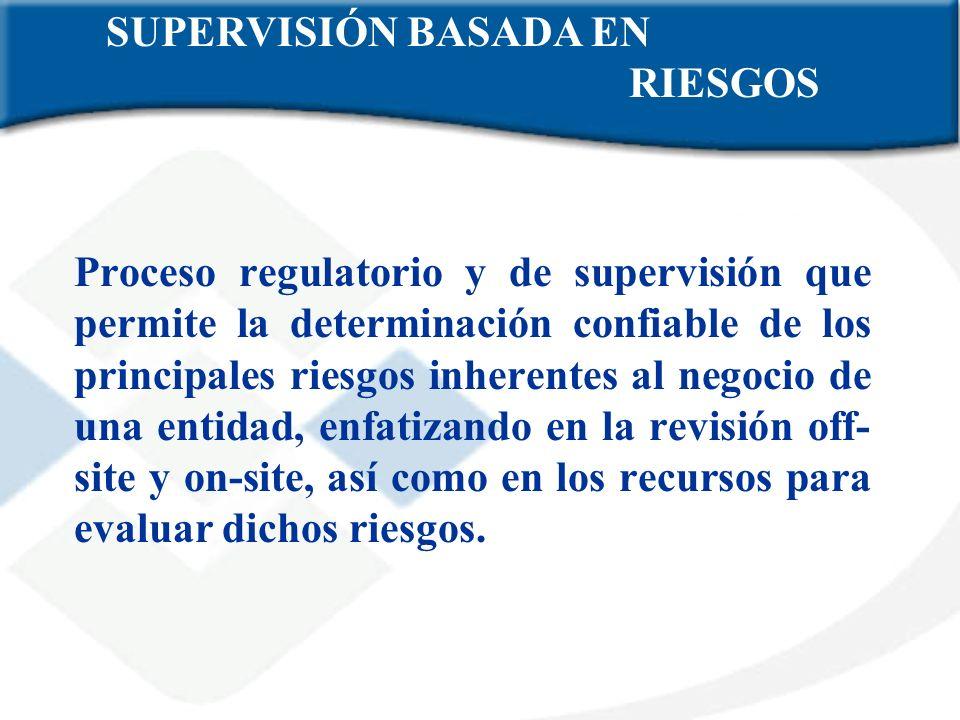 Proceso regulatorio y de supervisión que permite la determinación confiable de los principales riesgos inherentes al negocio de una entidad, enfatizan