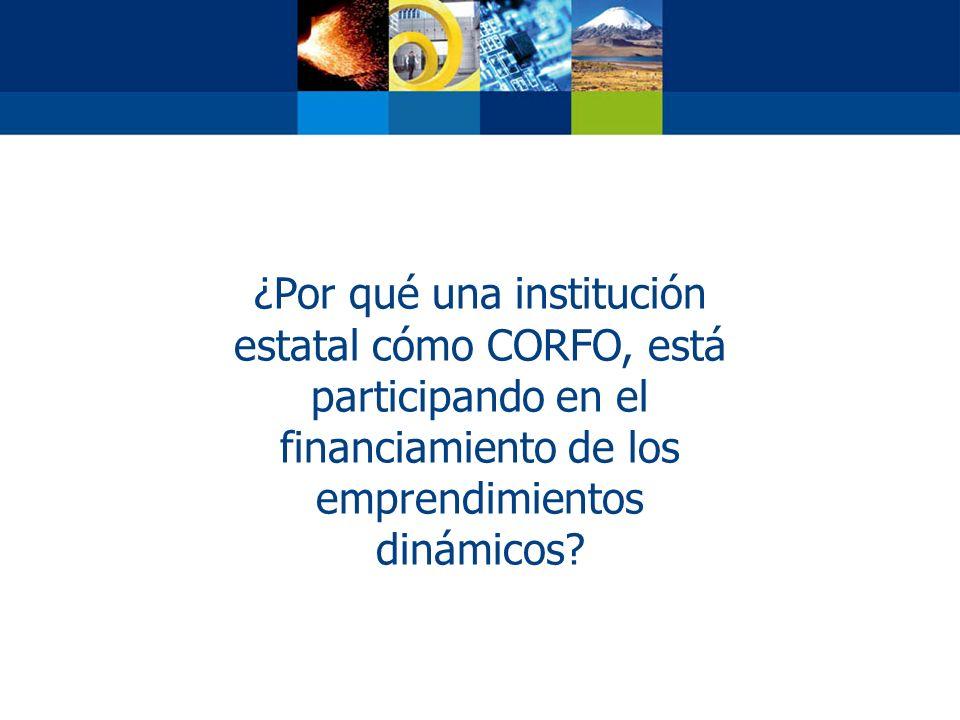 ¿Por qué una institución estatal cómo CORFO, está participando en el financiamiento de los emprendimientos dinámicos?