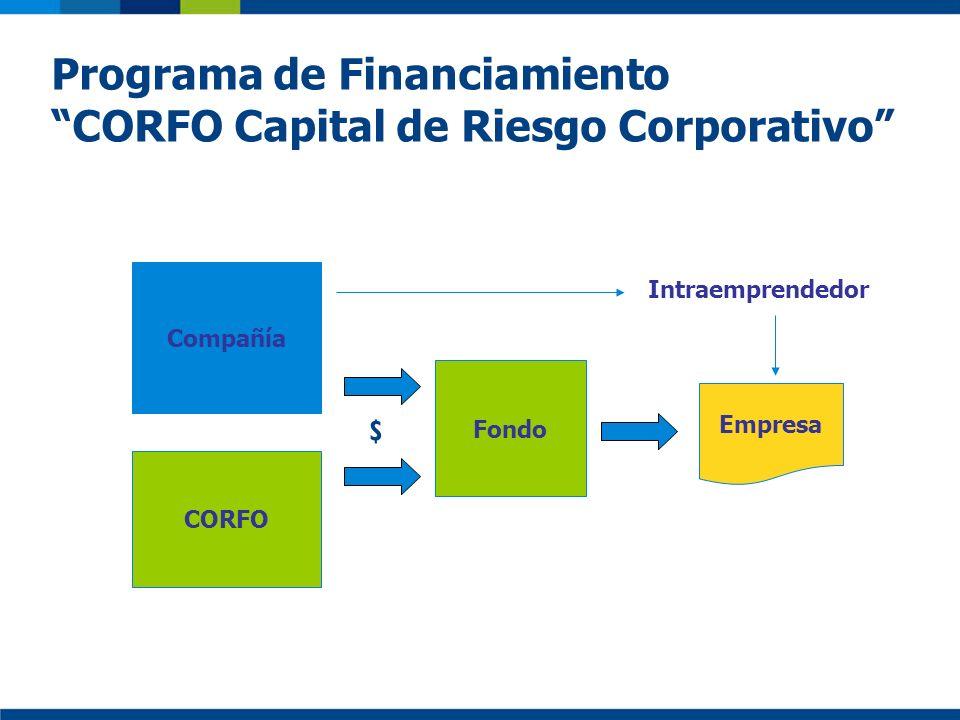 Programa de Financiamiento CORFO Capital de Riesgo Corporativo Compañía Empresa Fondo CORFO Intraemprendedor $