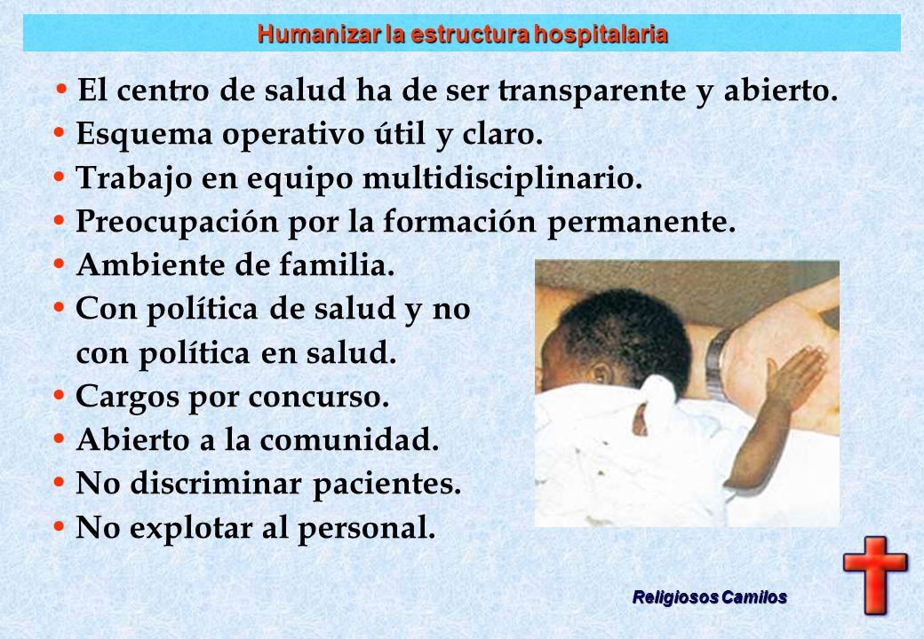 ? Humanismo con técnica Religiosos Camilos Qué enfermedad tiene esa persona.Qué enfermedad tiene esa persona. Cómo es la persona que está enferma.Cómo