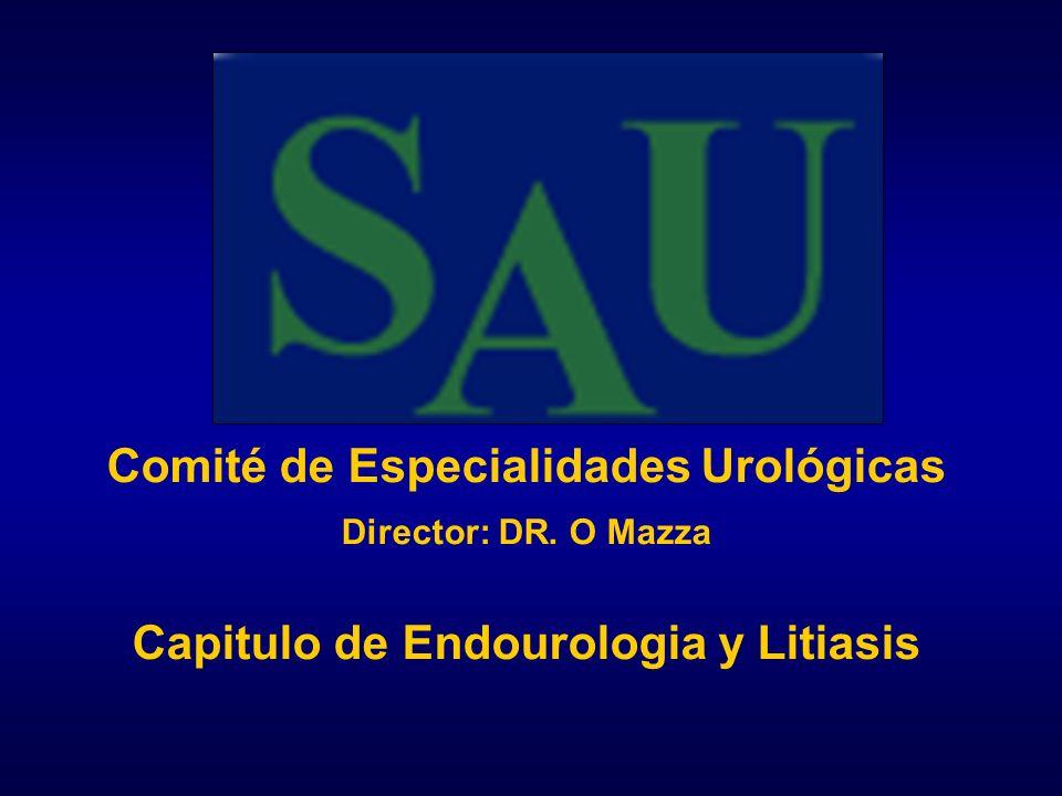 Litiasis infectadas.Uréter superior 1)- ATB + ESWL in situ.