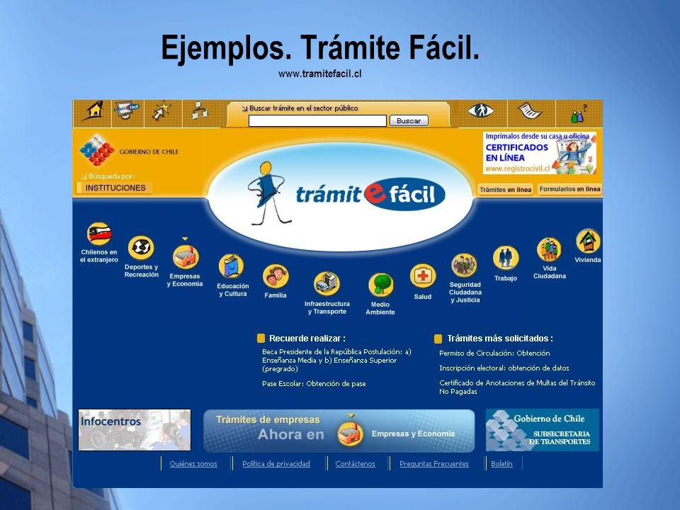 Ejemplos. Trámite Fácil. www.tramitefacil.cl