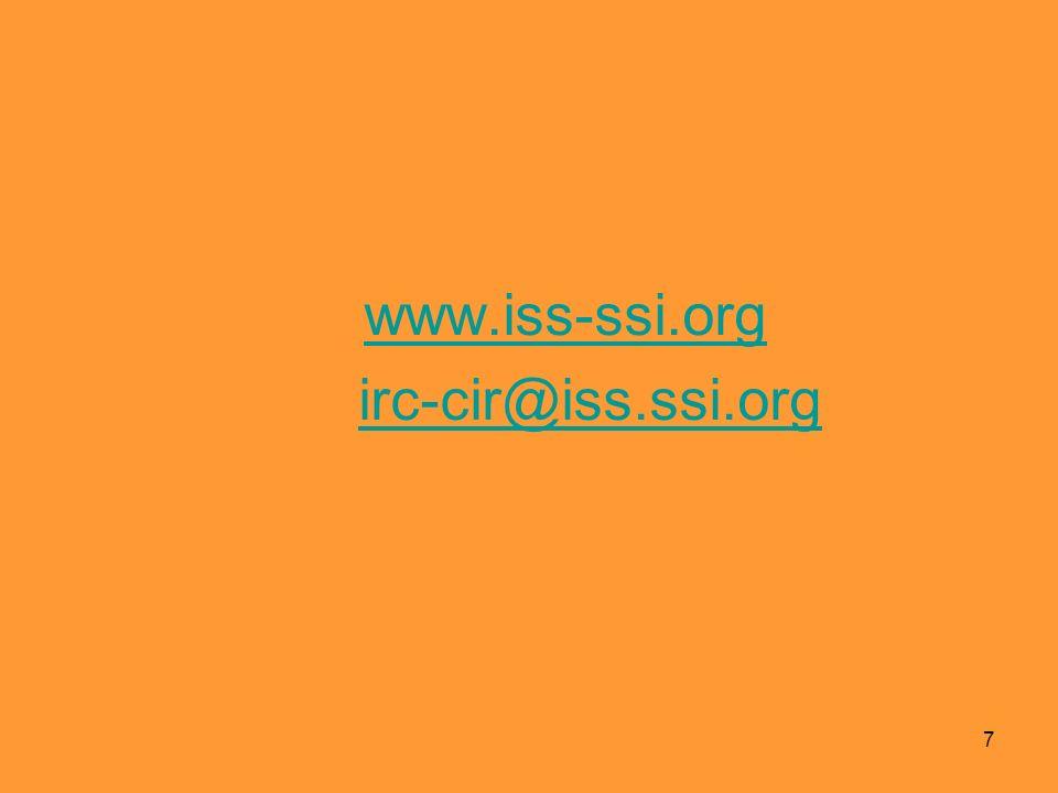 www.iss-ssi.org irc-cir@iss.ssi.org 7