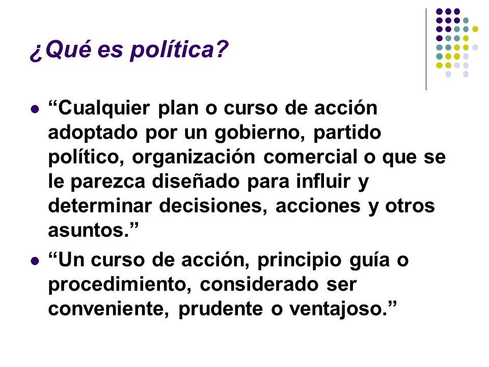 ¿Qué es política.
