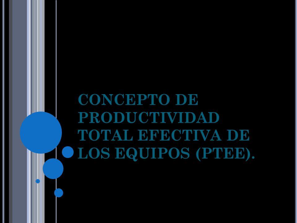 CONCEPTO DE PRODUCTIVIDAD TOTAL EFECTIVA DE LOS EQUIPOS (PTEE).