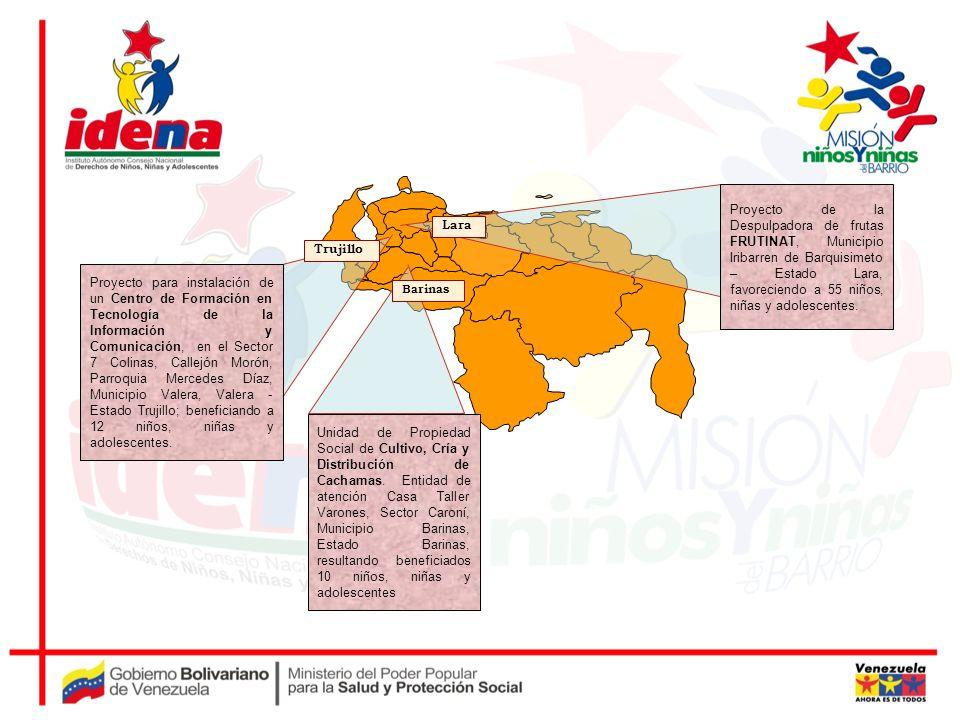 Barinas Lara Trujillo Proyecto de la Despulpadora de frutas FRUTINAT, Municipio Iribarren de Barquisimeto – Estado Lara, favoreciendo a 55 niños, niña