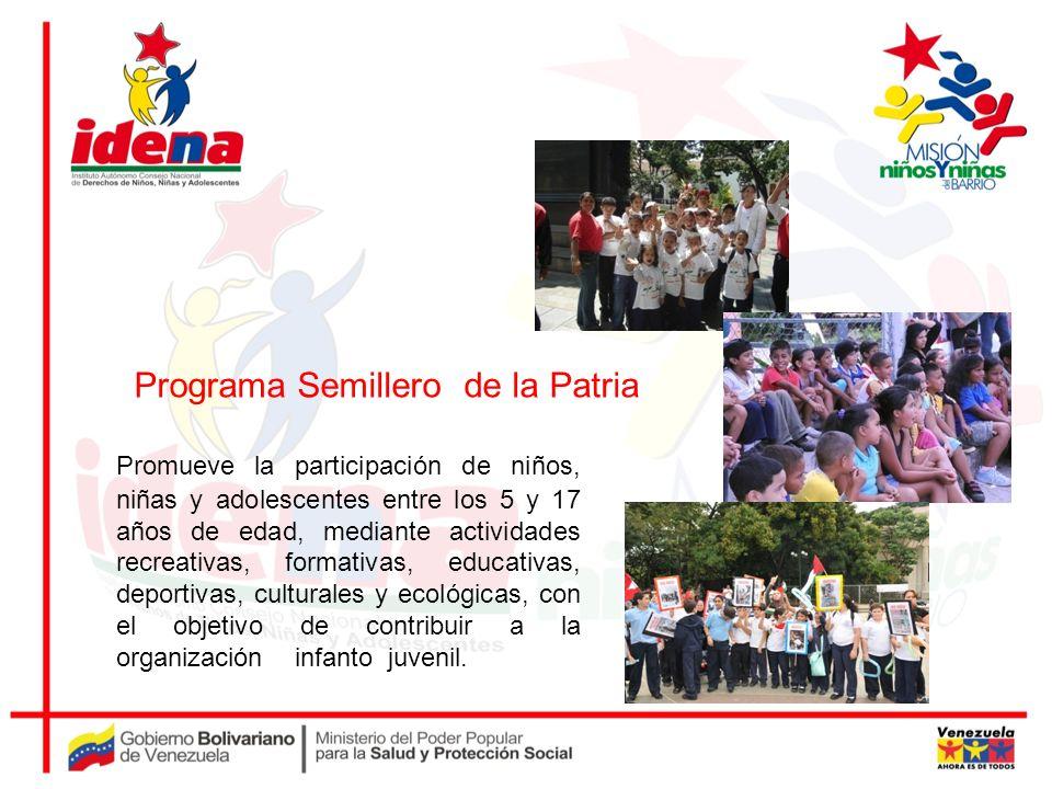 Promueve la participación de niños, niñas y adolescentes entre los 5 y 17 años de edad, mediante actividades recreativas, formativas, educativas, depo