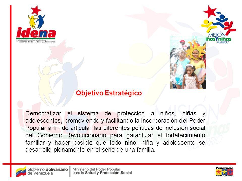 Democratizar el sistema de protección a niños, niñas y adolescentes, promoviendo y facilitando la incorporación del Poder Popular a fin de articular l