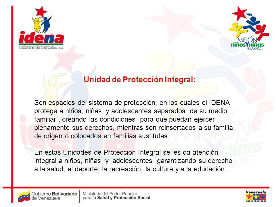 Son espacios del sistema de protección, en los cuales el IDENA protege a niños, niñas y adolescentes separados de su medio familiar, creando las condi