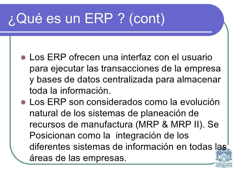 ¿Qué hacen los ERP .