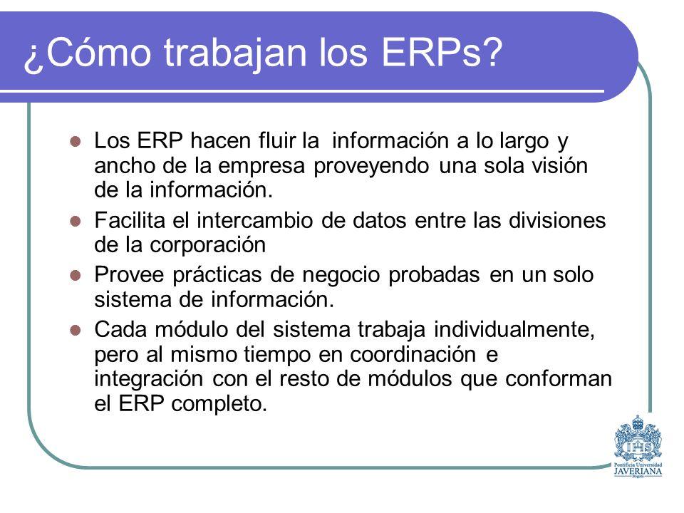 ¿Cómo trabajan los ERPs.