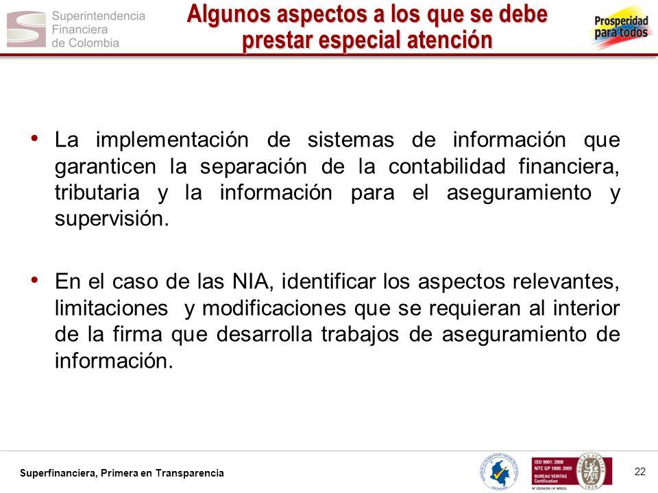 Superfinanciera, Primera en Transparencia 23 Agenda 1.Introducción 2.Estándares objeto de la convergencia 3.Fases del proceso de convergencia hacia las NIIF – NIA 4.Responsables del éxito de la convergencia a las NIIF – NIA 5.Algunos aspectos a los que se debe prestar especial atención 6.Encuesta Carta Circular 014 de 2012 y sus resultados 7.Mesas de trabajo sectoriales