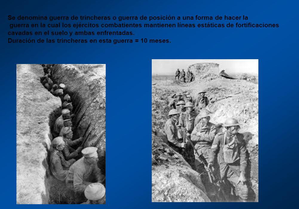 Se denomina guerra de trincheras o guerra de posición a una forma de hacer la guerra en la cual los ejércitos combatientes mantienen líneas estáticas
