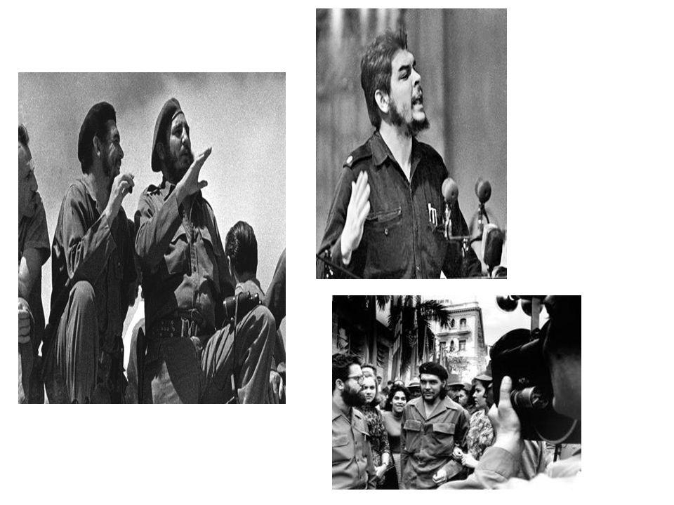 Al triunfo de la Revolución Cubana, Ernesto Che Guevara se convirtió en la mano derecha de Fidel Castro en el nuevo gobierno del país *Organizó y dirigió el Instituto Nacional de la Reforma Agraria para administrar las nuevas leyes agrarias expropiando a los grandes terratenientes y fue nombrado Presidente del Banco Nacional de Cuba.