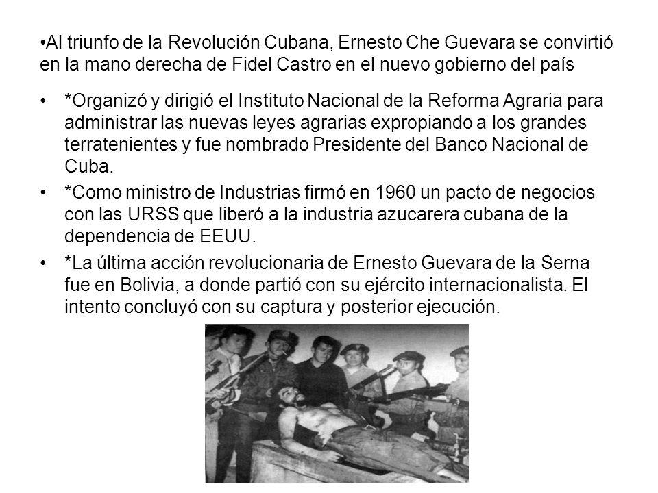 * De las experiencias que Che obtuvo durante la Revolución Cubana nació un axioma: No es necesario esperar hasta que todas las condiciones para la revolución existan, el foco insurreccional las puede crear.