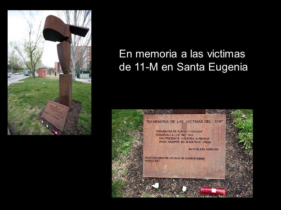 En memoria a las victimas de 11-M en Santa Eugenia