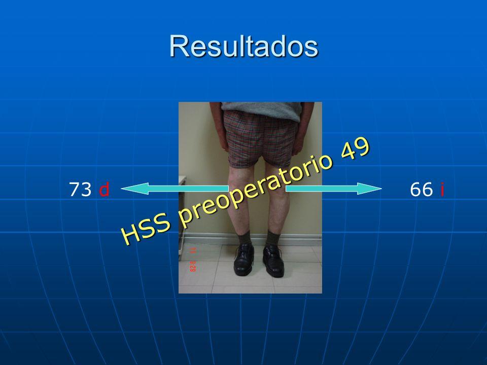 Resultados 73 d66 i HSS preoperatorio 49