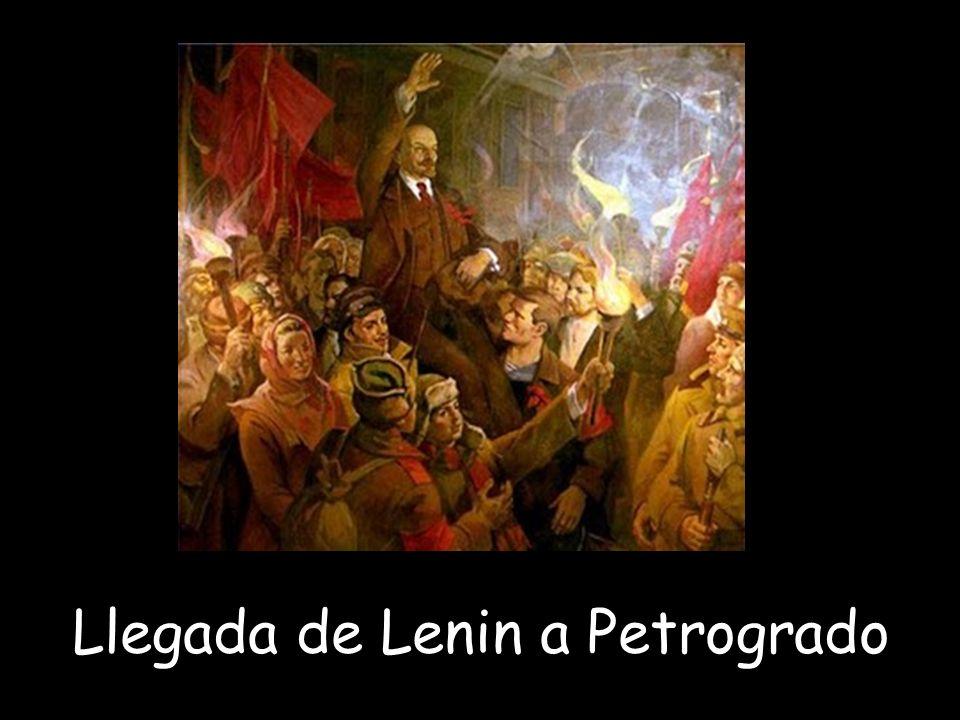 Llegada de Lenin a Petrogrado