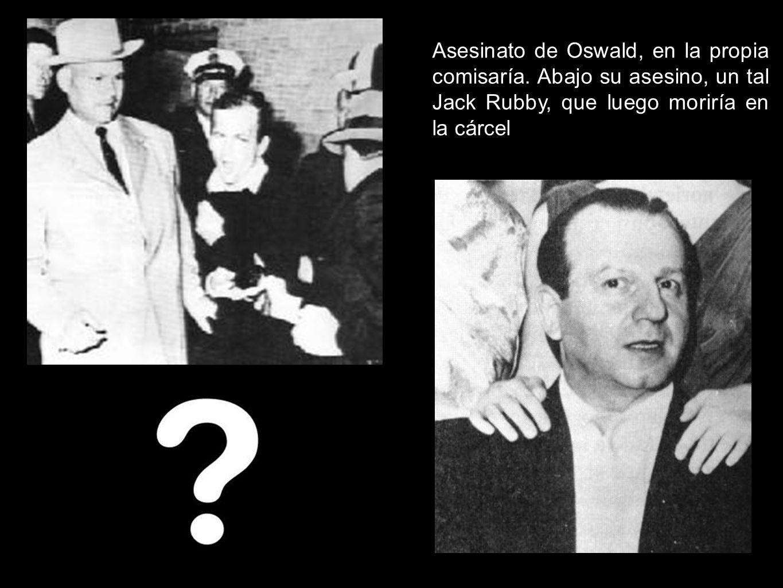 Asesinato de Oswald, en la propia comisaría. Abajo su asesino, un tal Jack Rubby, que luego moriría en la cárcel
