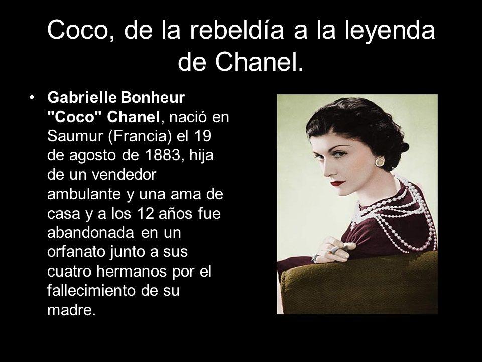Coco, de la rebeldía a la leyenda de Chanel. Gabrielle Bonheur