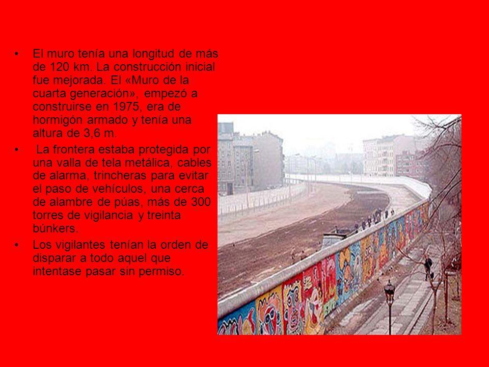 Caída del muro El Muro de Berlín cayó en la noche del jueves, 9 de noviembre de 1989, al viernes, 10 de noviembre de 1989.