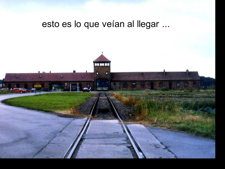 El tren estacionaba en el propio Campo de Concentración