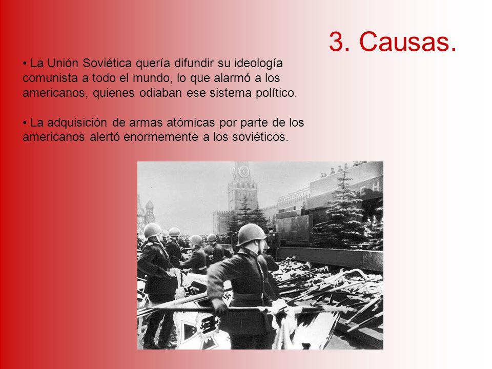 Los Estados Unidos y la Unión Soviética acumularon grandes arsenales de armas atómicas y misiles balísticos.