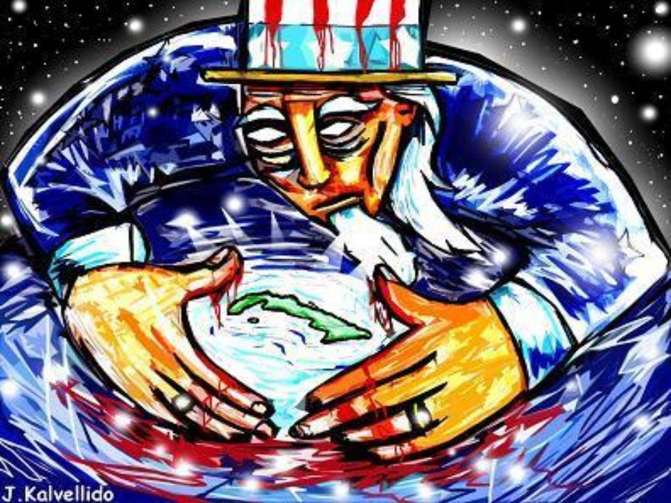 RUPTURA CON ESTADOS UNIDOS En 1960 el gobierno cubano nacionalizó todas las compañías estadounidenses de la isla, medida a la que Washington respondió con la imposición de un embargo comercial.