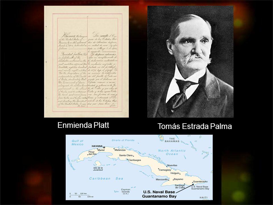 Enmienda Platt Tomás Estrada Palma