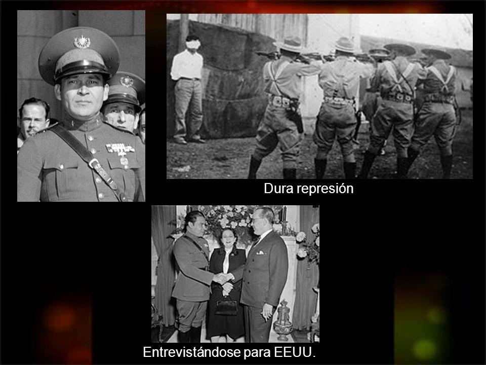 Dura represión Entrevistándose para EEUU.