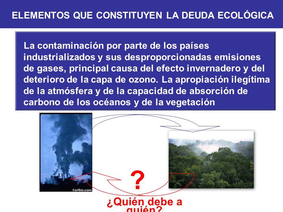 ¿Quién debe a quién? La contaminación por parte de los países industrializados y sus desproporcionadas emisiones de gases, principal causa del efecto
