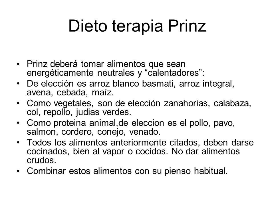 Dieto terapia Prinz Prinz deberá tomar alimentos que sean energéticamente neutrales y calentadores: De elección es arroz blanco basmati, arroz integra