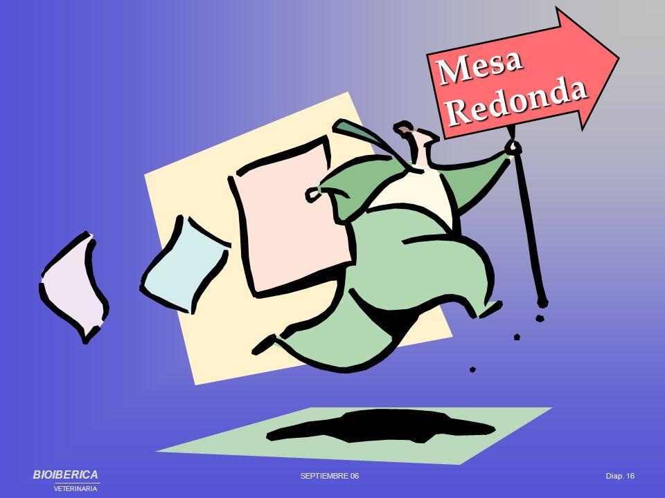 Mesa Redonda BIOIBERICA SEPTIEMBRE 06 Diap. 16 ___________________________________________ VETERINARIA